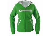 Women's Diamond Stitch Zip-Front Hooded Sweatshirt