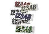 Kawasaki Hardline Block Registration Number Kits