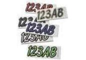 Kawasaki Hardline Block Registration Number Kits